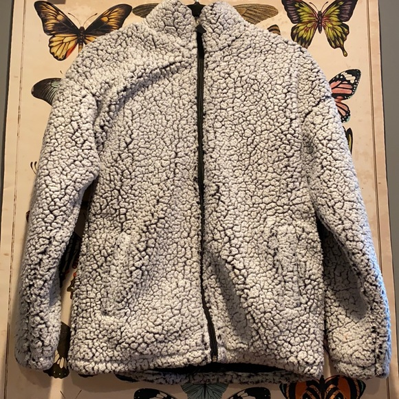 sherpa black and white jacket